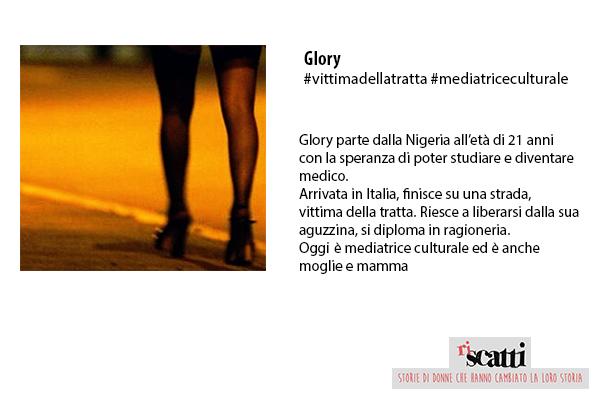 Glory: #vittimadellatratta #mediatriceculturale