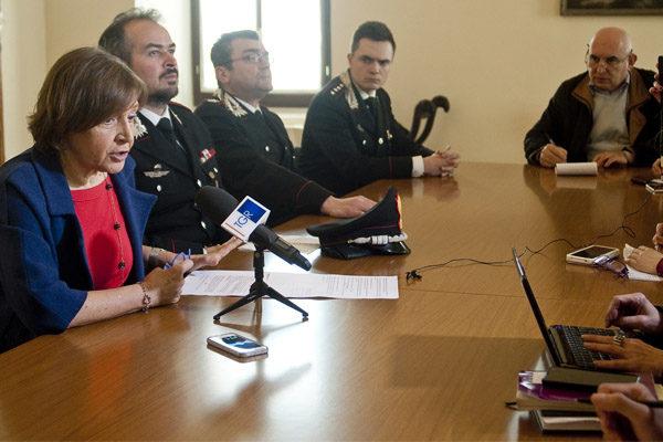 Il Procuratore capo illustra l'operazione di arresto di Lembo