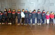 I bimbi dell'Edelweiss in visita al Memoriale della Shoah