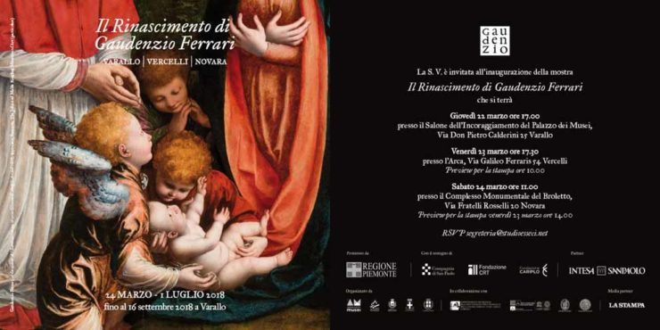 """Arte, storia, territorio. Varallo, Vercelli e Novara celebrano """"Il Rinascimento di Gaudenzio Ferrari"""""""