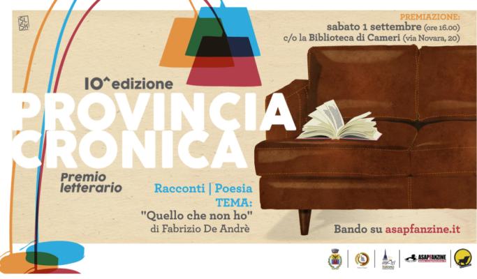 Provincia Cronica: ultimi giorni per il concorso letterario che omaggia De Andrè