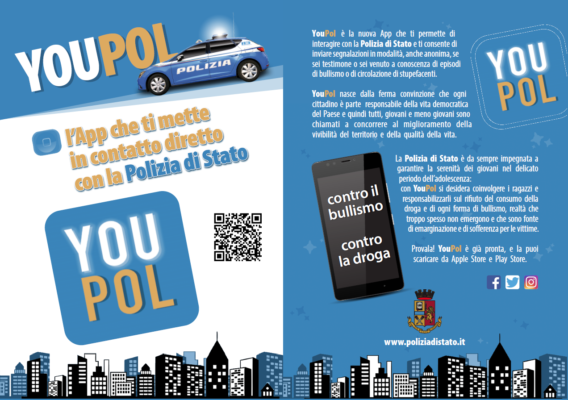 YouPol App bullismo droga Polizia Novara
