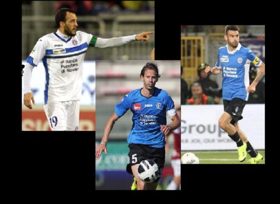 Novara calcio Ludi Buzzegoli Gonzalez Charly, Buba, Pablo