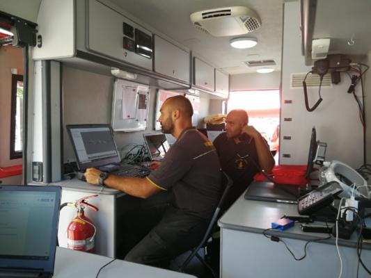 Il supporto dei VFF di Novara nella zona rossa sotto il ponte Morandi