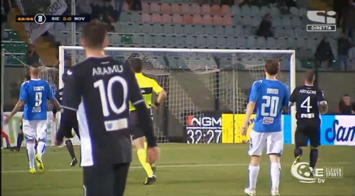 Il Novara non scarta il regalo del 110° anniversario. A Siena finisce 1-1 in un folle finale
