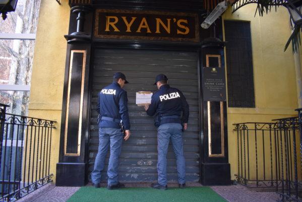 Lite fra giovani, il questore chiude il Ryans per 15 giorni