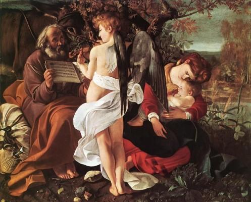 Caravaggio. Il riposo durante la fuga in Egitto fortuna 1
