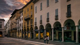 Tramonto su Novara