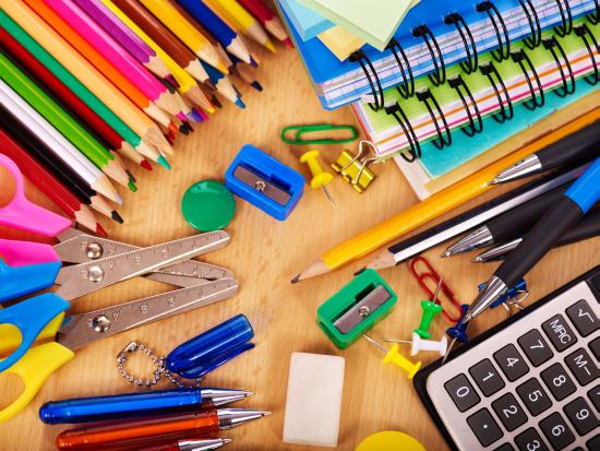 School office supplies.