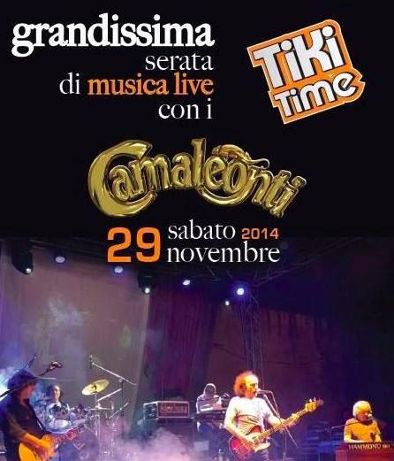 Al Tiki Time, domani, live dei Camaleonti e cabaret con Luca Elias. Serata imperdibile!