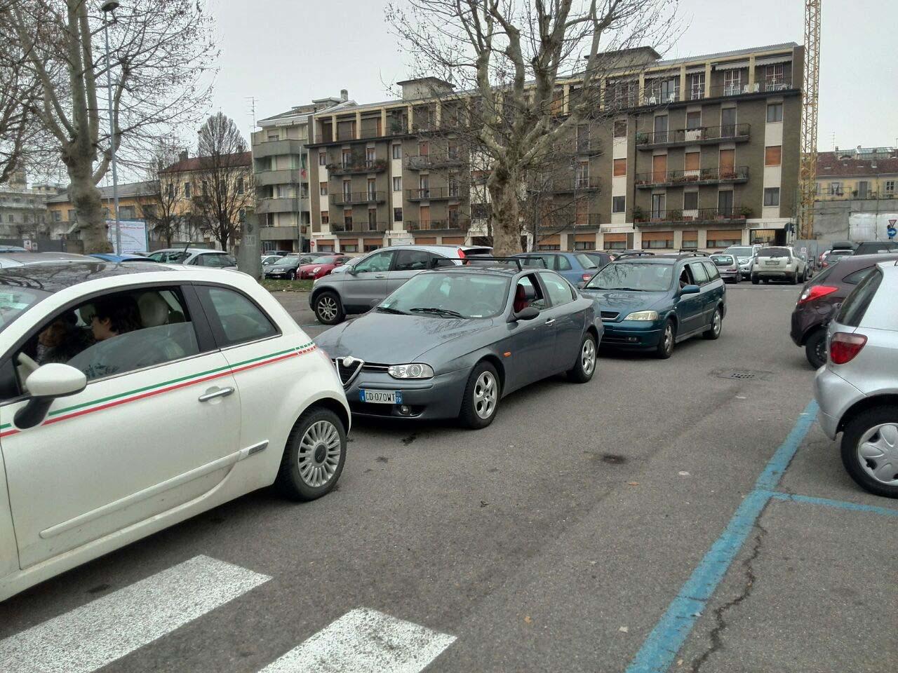 Musa impazzisce in largo Alpini: sistema nel caos, automobilisti intrappolati nel parcheggio