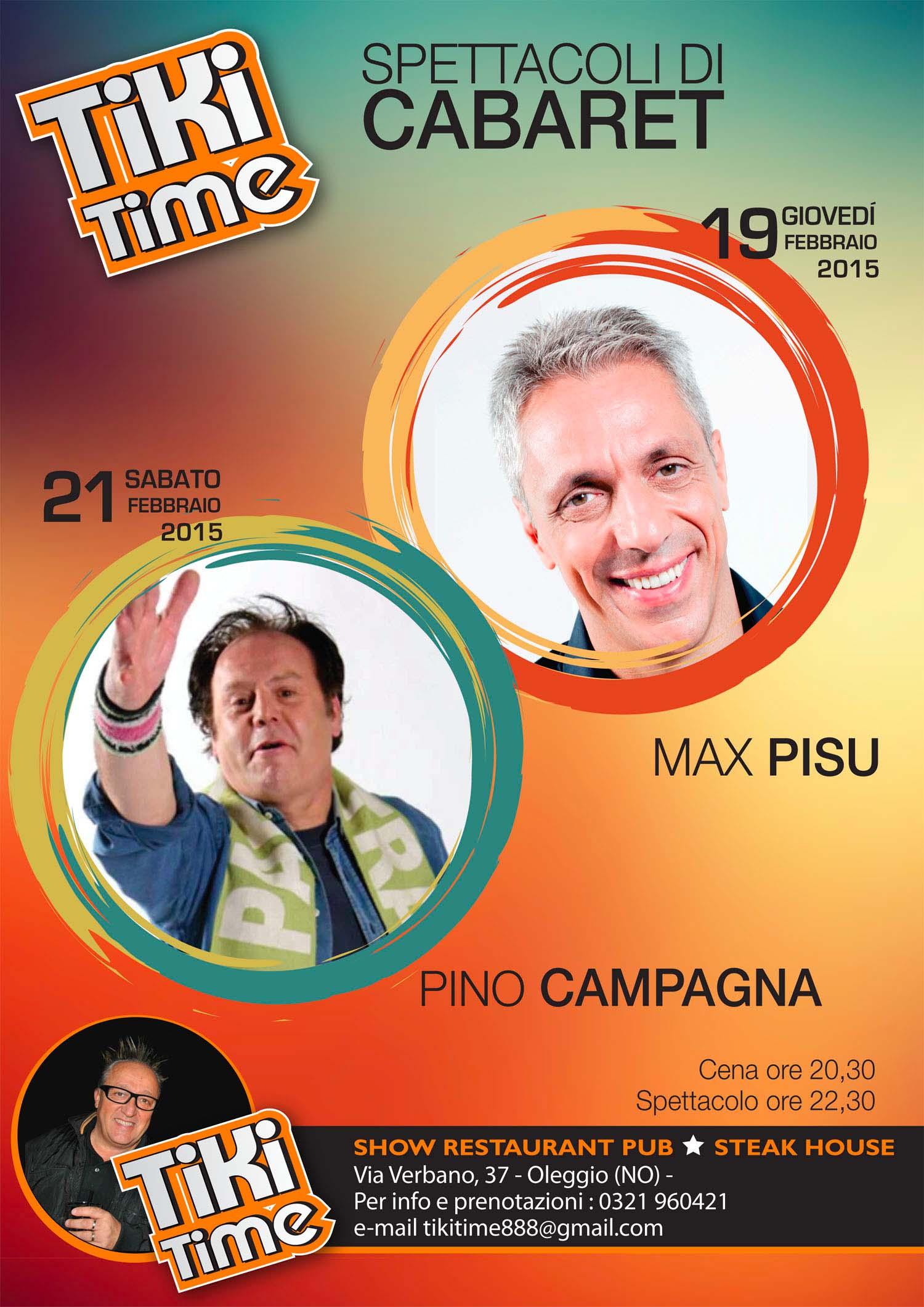 Max Pisu e Pino Campagna per la settimana del Tiki Time