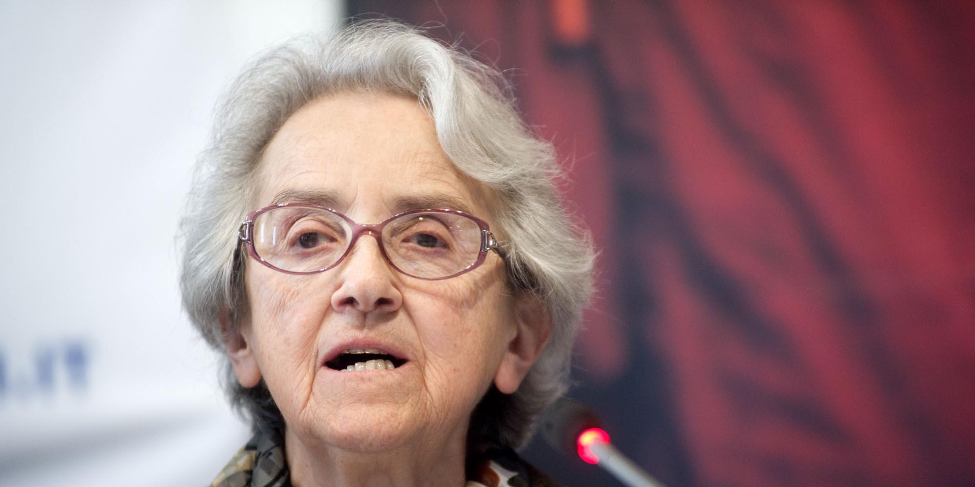 18/03/2014 Roma, Conferenza stampa promossa dai Radicali Italiani per chiedere al Parlamento l'avvio di una indagine conoscitiva sull'eutanasia. Nella foto Mina Welby