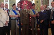 Il colonnello Massimiliano Quarto saluta i colleghi della Babini