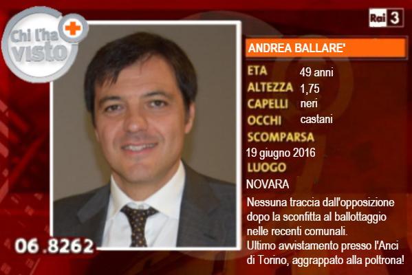 Novara in Blu: «Chi ha visto Ballarè???