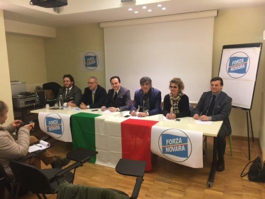 Cirio ospite della conferenza stampa a Novara con Murante, Marcassa, Vicenzi, Mattiuz e Crivelli