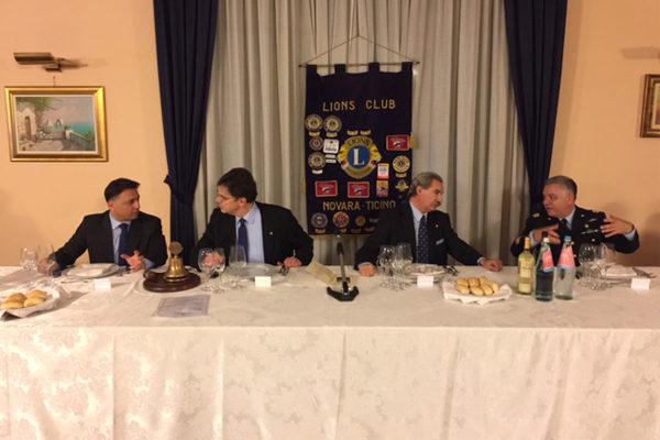 Alla Finanza va il premio Lions Novara città sicura