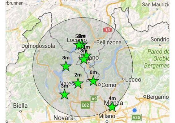 Terremoto con epicentro in Svizzera avvertito anche nel Novarese