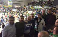 Lo stato maggiore leghista a Verona per la manifestazione sulla