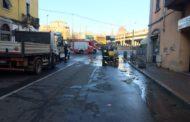 Consistente perdita a Sant'Agabio: cantine allagate e corso Milano chiuso al traffico