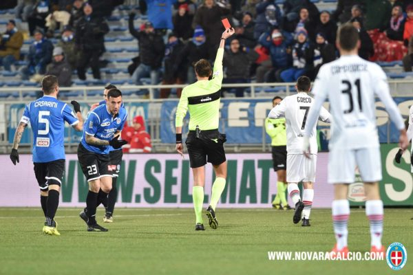 Novara calcio Foggia calcio Sciaudone espulsione retrocessione serie C Lega serie B Massimo De Salvo tifosi azzurri Nuares
