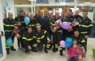 La Pasqua dei Vigili del fuoco arriva in Pediatria