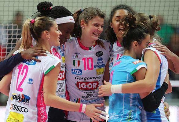 Igor Volley Novara Busto Arsizio gara 3 semifinale 3-0