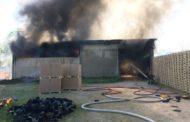 Rogo al deposito della Corim: colpa di un incendio in un campo vicino?