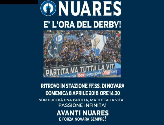 tifosi azzurri Nuares a Vercelli in treno