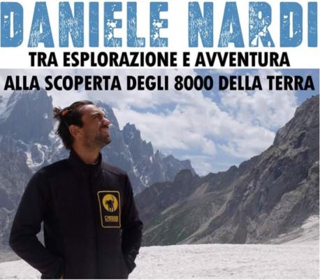 Con Dario Ricci di Radio24 a Romentino lo scalatore Daniele Nardi e la sua vita sopra gli 8 mila