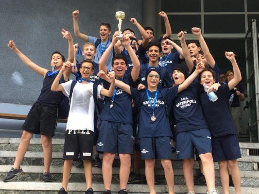 Terzo posto regionale per la Waterpolo Novara Under 13