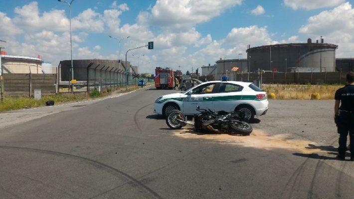 scontro auto moto S.Martino Trecate