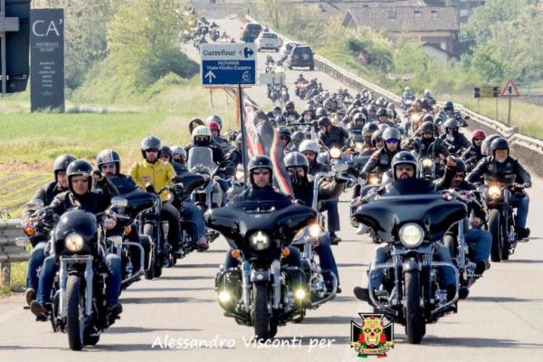 Rombano le Harley, da Novara a Mortara per aiutare Anffa