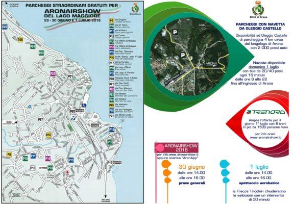 Programma parcheggi Aronairwhow frecce tricolori