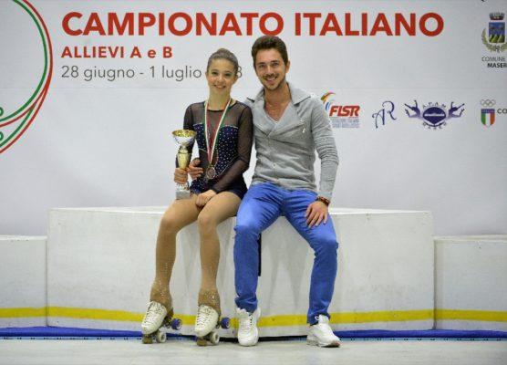 Argento agli italiani per Ginevra Olivetti della Gioca Pattinaggio Novara
