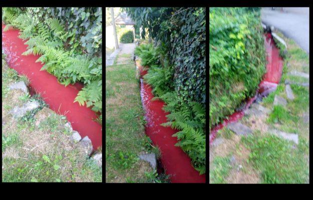 Il torrente diventa rosso: individuato il responsabile ed il lago è salvo
