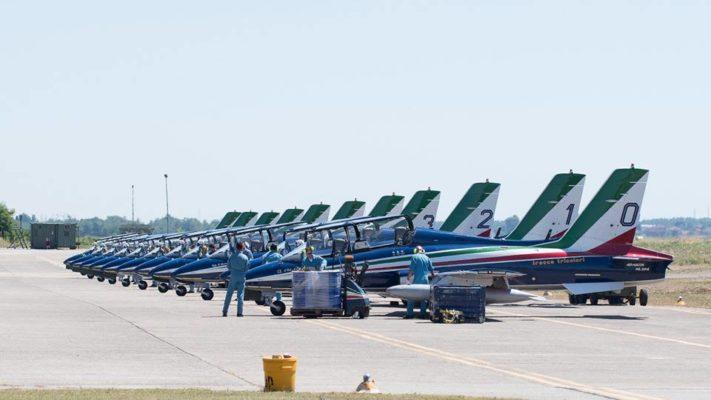 Base Cameri frecce tricolori efficienza Arona Air Show