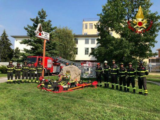 I Vigili del Fuoco di Novara non dimenticano l'11 settembre