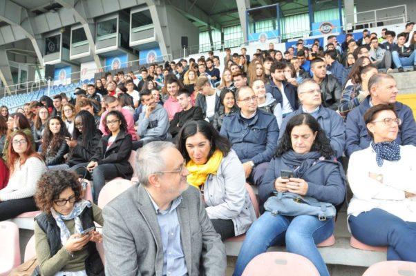 La Costituzione riempie il Silvio Piola e gli studenti applaudono