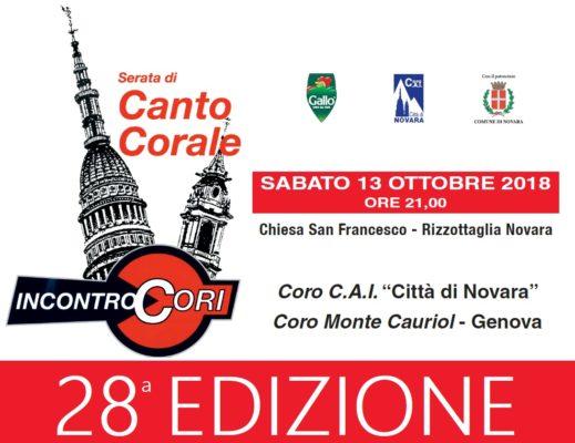 Incontro Cori Cai Novara Monte Cauriol Genova