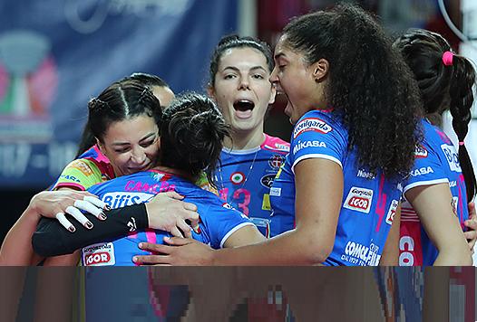 Novara è un treno in corsa anche in Champions: l'Igor Volley passa 0-3 a Minsk