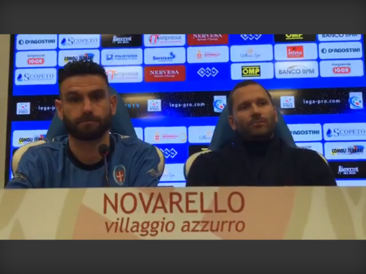 Daniele Buzzegoli Novara calcio presentazione Charly Ludi