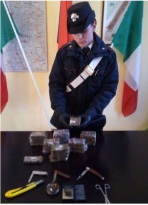 Operazione antidroga a Oleggio: sequestrati 3 chili di hashish