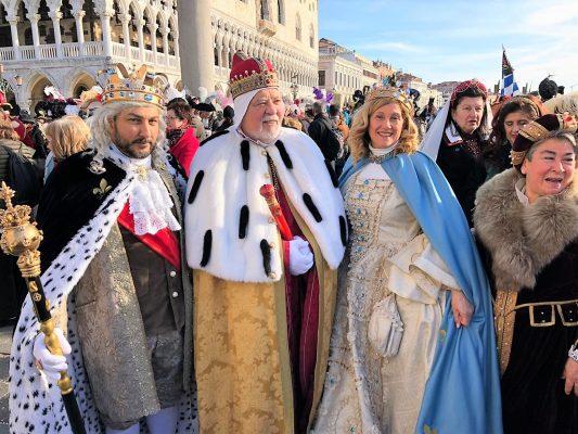 Re Biscottino ospite d'onore al Carnevale di Venezia