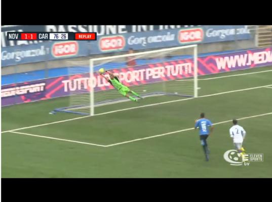 Novara-Carrarese 1-2 Lega Pro serie C