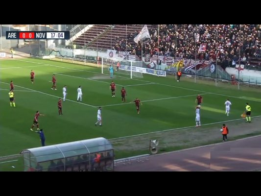 Play-off serie C secondo 2° turno Novara calcio Arezzo