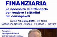 Educazione finanziaria, Giuseppe Ghisolfi lunedì a Novara