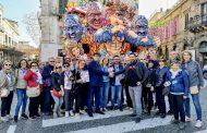 Maschere novaresi ospiti al Carnevale dei fiori di Acireale