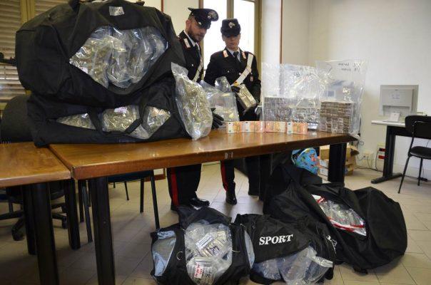 Sequestro 500 chili di droga carabinieri Novara
