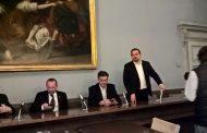 Il sottosegretario Giorgetti in visita a Novara
